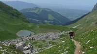 trekking the French Alps mountain walking